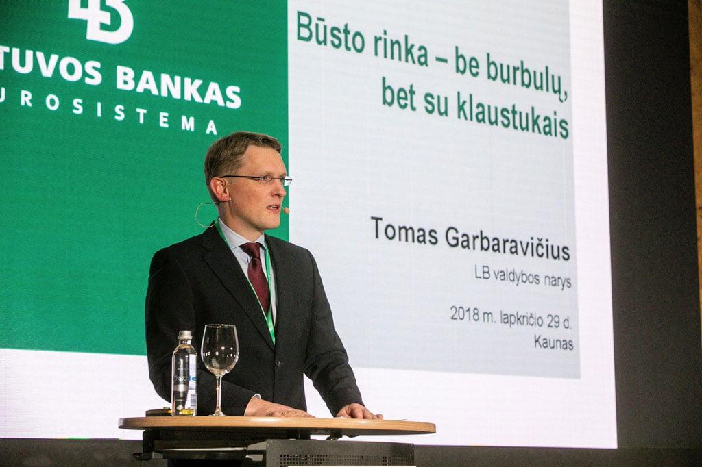 Lietuvos banko valdybos narys Tomas Garbaravičius. Lietuvos banko nuotr.