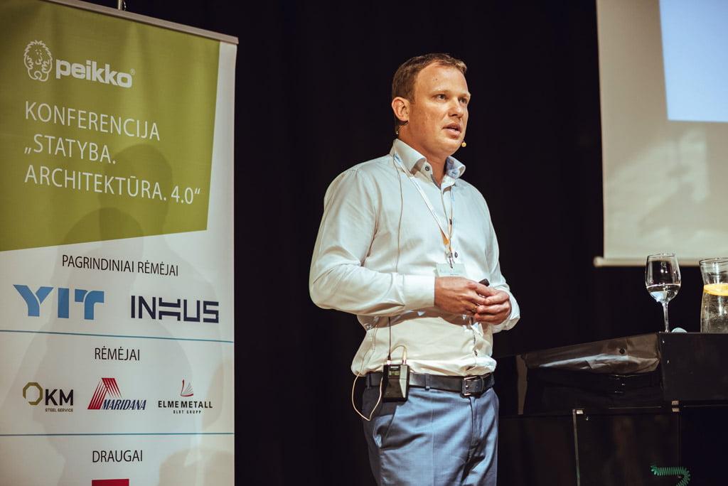 """Bendrovės """"INHUS Group"""" generalinis direktorius Audrius Tulaba."""