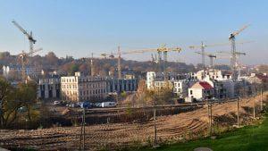 """3 il. Statoma Architektūros parko dalis Vilniuje – """"Paupys"""" (vystytojas UAB """"MG valda""""), kurią vystant pasinaudota 6 didelę patirtį turinčių architektų komandų paslaugomis: tai """"Arches"""", """"Eventus Pro"""", """"Architektūros linija"""", """"T. Balčiūno architektūros biuras"""", """"Ambraso architektų biuras"""" ir """"Kančo studija"""". A. Štelbienės nuotr."""