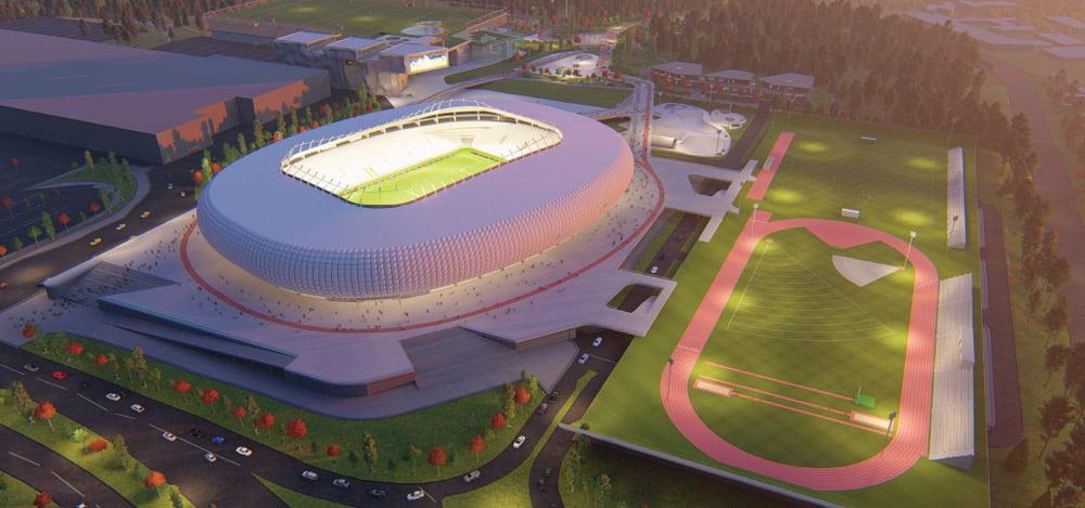 """Bendrovės """"Vilniaus nacionalinis stadionas"""" vizual."""