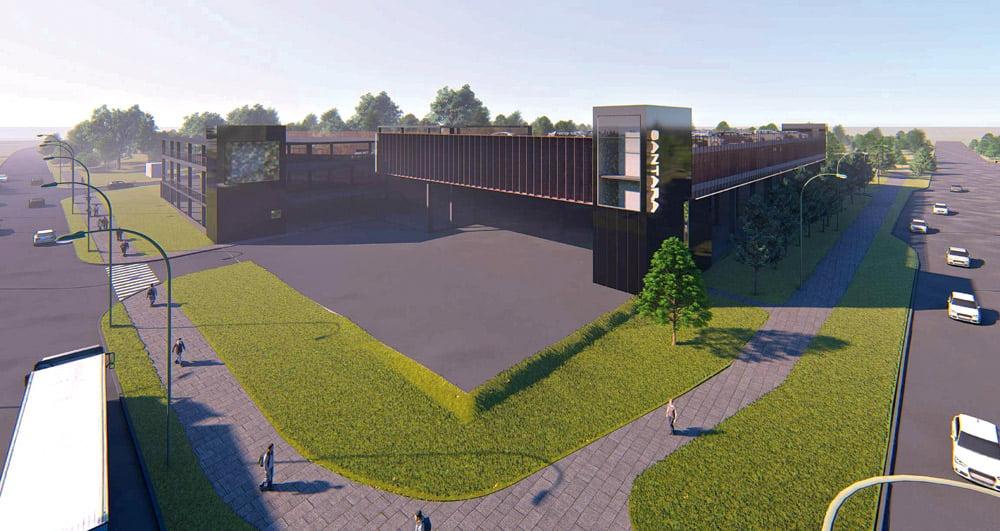 """Automobilių saugyklų Santaros klinikų miestelyje projektinius siūlymus ruošė architektų biuras """"Cloud architektai""""."""