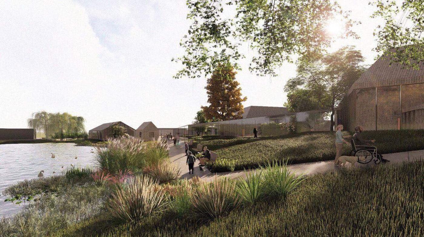 Projektuojamas senelių namų kompleksas sukuria dinamišką, tvarkingą koncepciją, jaukią erdvę ir organiškai įsilieja į gretimų pastatų tūrinę kompoziciją.