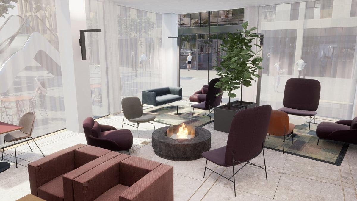 """""""Hilton Garden Inn Vilnius City Centre"""" vizual."""