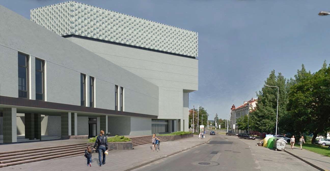 Vilniaus kongresų rūmų vizual.