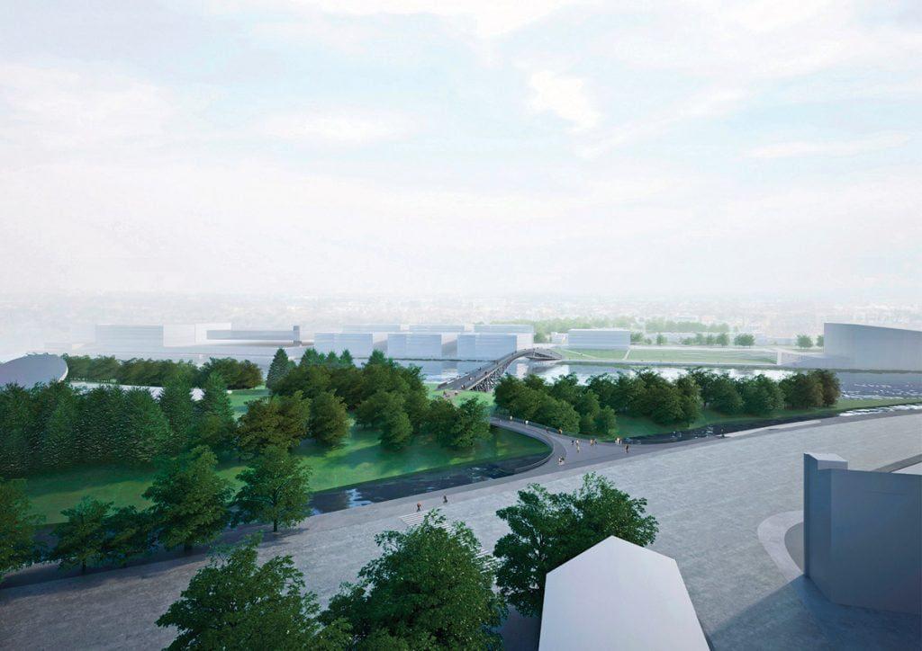 Vaizdas nuo Ugniagesių Rūmų sankryžos. Projekto vizual.