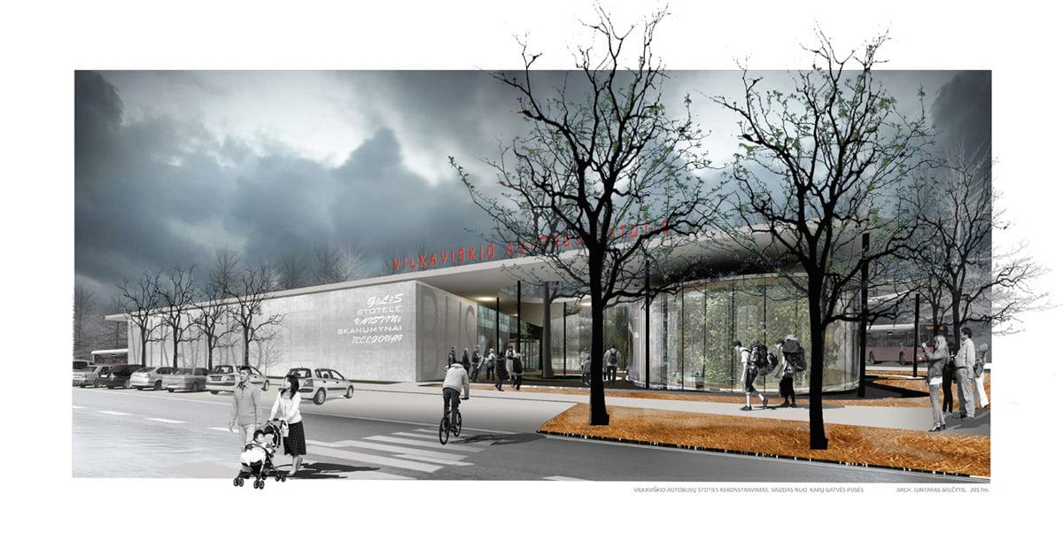 Vilkaviškio autobusų stoties vizual.