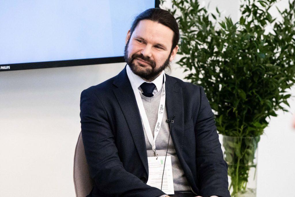 Aplinkos ministerijos statybos sektoriaus pažangos ir statybos produktų politikos skyriaus vedėjas Dainius Čergelis. KTU nuotr.