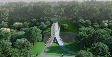pėsčiųjų tilto per Neries upę