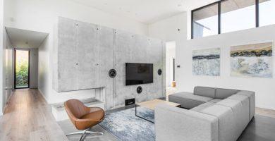 interjeras, betonas interjere