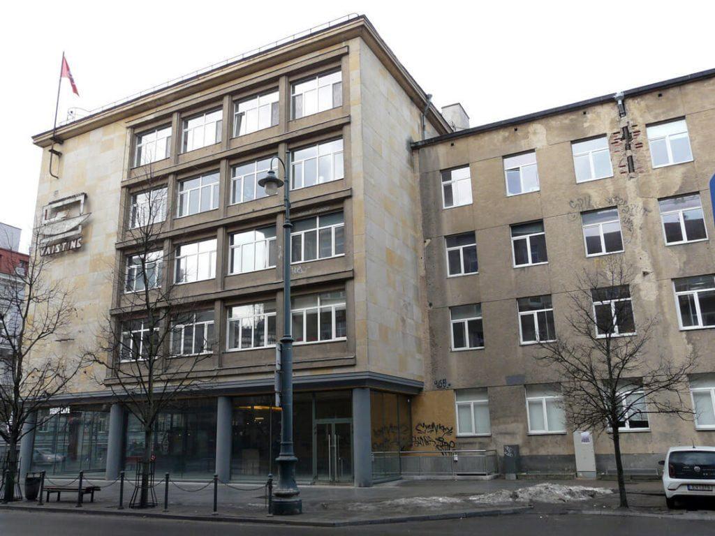 Tarpukario pastatas Gedimino pr. 27, Vilniuje. M. Drėmaitės nuotr.