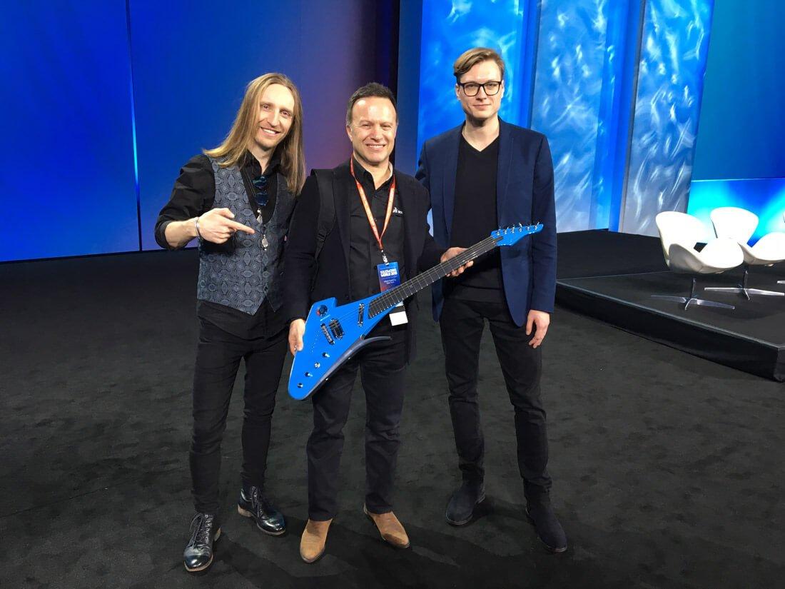 Robertas Semeniukas (kairėje), Gian Paolo Bassi ir Rapolas Gražys.
