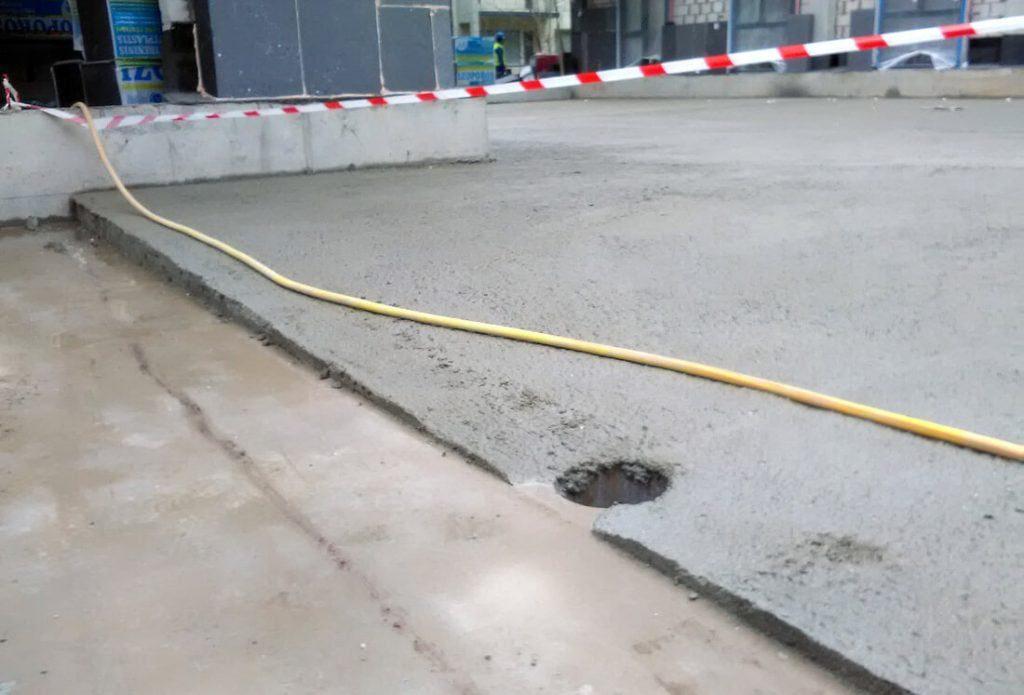 Nuolydžių virš parkingo formavimas, hidroizoliavimas.