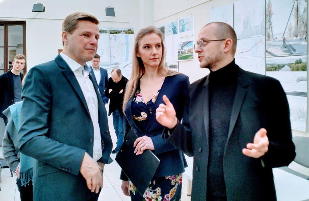 Remigijus Šimašius, Rūta Leitanaitė ir Petras Išora. Lietuvos architektų sąjungos nuotr.