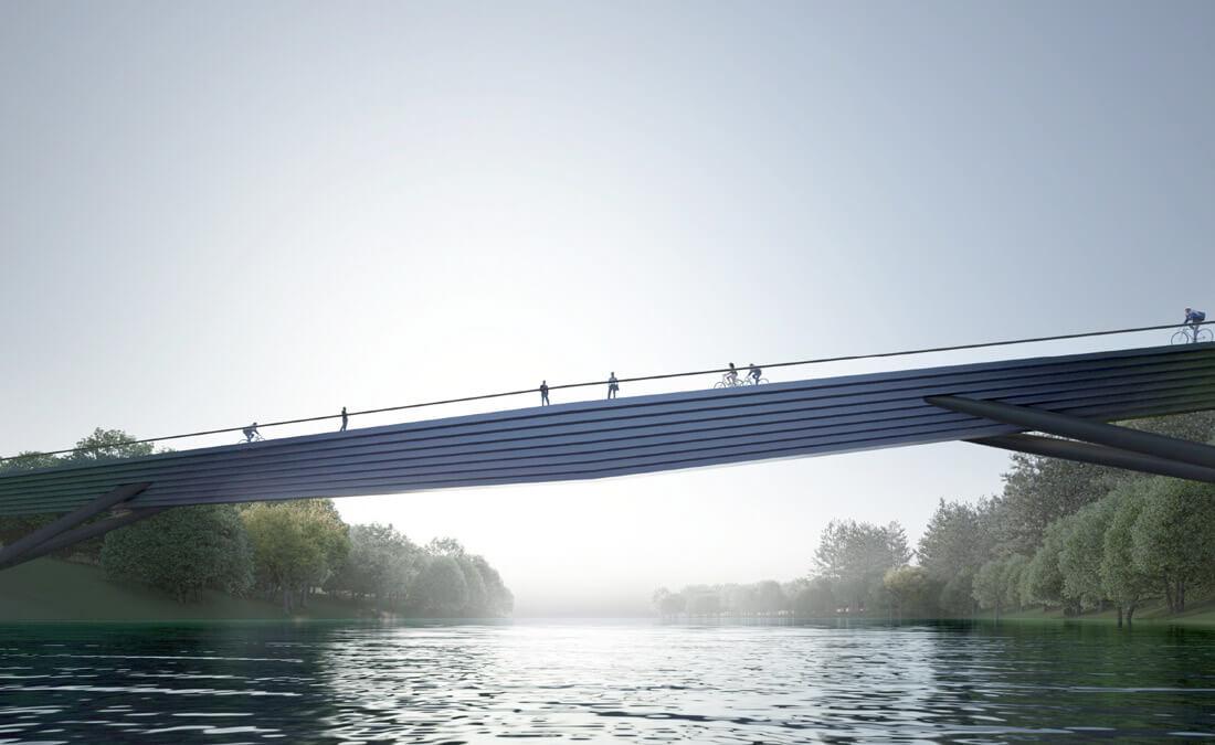 """Projektas """"Užvingio salos tiltas""""."""