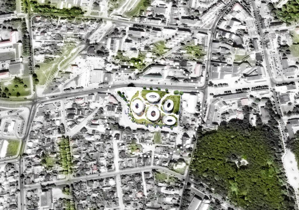 """Centras Alytuje būtų pavadintas """"Baltosios rožės"""" vardu. """"Baltic Architects Group"""" vizual."""