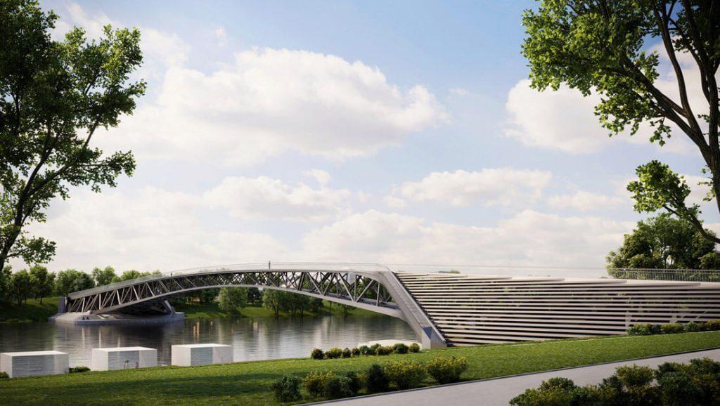 Pėsčiųjų tiltas. Kauno savivaldybės vizual.