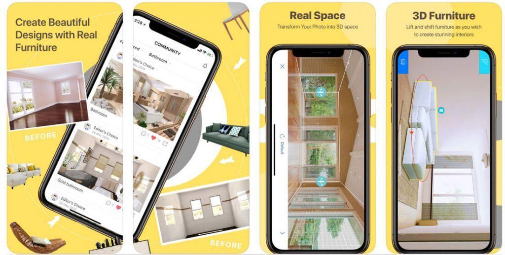 "Programėlė ""Homestyler Interior Design"" (""iOS"", ""Android"")."