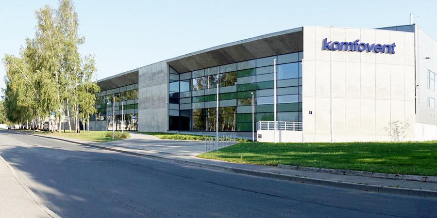 Įmonės KOMFOVENT gamykla Rygoje.