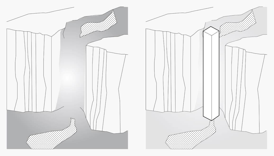 Kursiniame darbe nagrinėta jungties tarp viršaus ir apačios krioklio viduje tema.