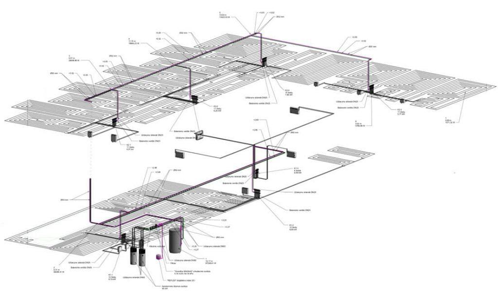Dauguma projektavimo etapų buvo atlikti BIM aplinkoje.