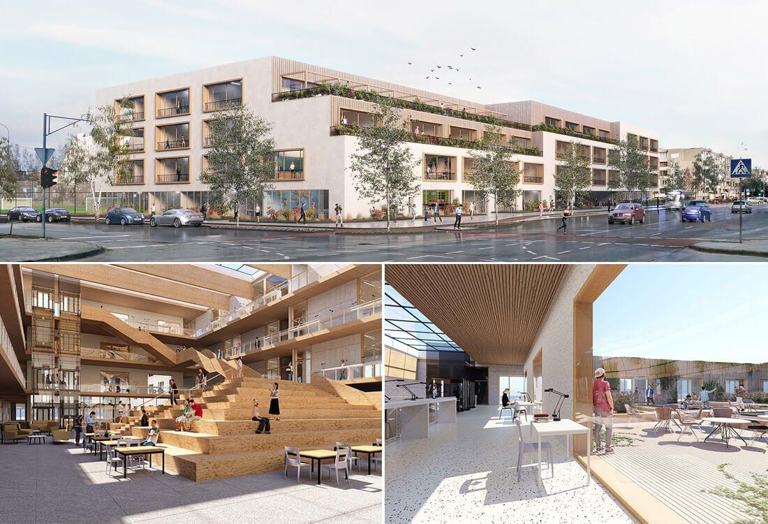 """Pirmąją vietą konkurse laimėjo architektų komandos UAB """"DO architects"""" projektas """"Mokslo aikštė""""."""