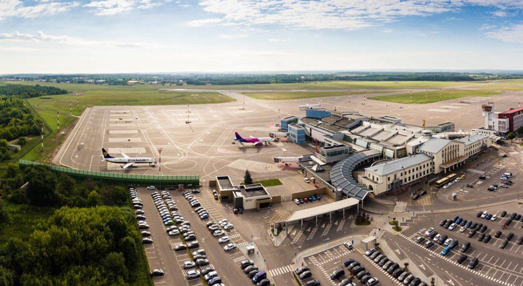 Vilniaus oro uostas dronas iš viršaus