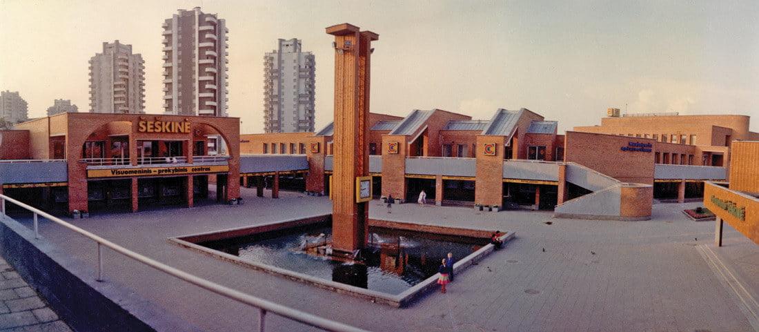 Šeškinės prekybos centro projektas kartu su architektais G. Baravyku ir G. Ramuniu parengtas 1986 metais.