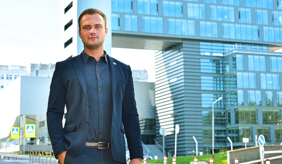 Vilniaus Gedimino technikos universiteto absolventas Tomas Kropas. VGTU nuotr.