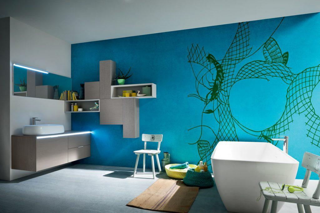 Vaikų vonios kambariams dizainerė M. Juknienė siūlo nepagailėti ryškesnių spalvų.