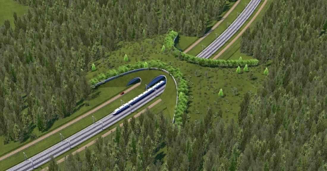 """""""Rail Baltica"""" geležinkelio linijos vizual."""