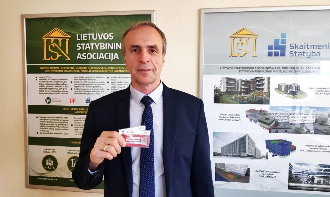 Latvijos statybininkų asociacijos prezidentas Normunds Grinbergs. LSA nuotr.