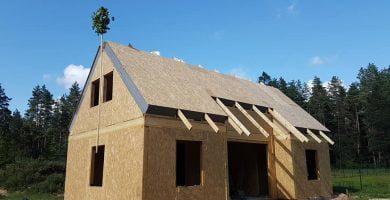 vainikas ant stogo tradicija statyba ir architektūra