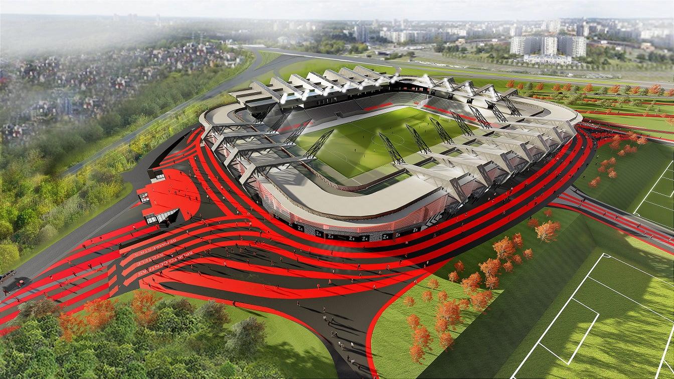 Nacionalinio stadiono vizual.