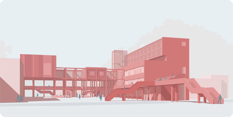 Šiaurės miestelio Žirmūnuose postindustrinės teritorijos detaliojo plano projektiniai pasiūlymai. Autorius: Povilas Jankūnas