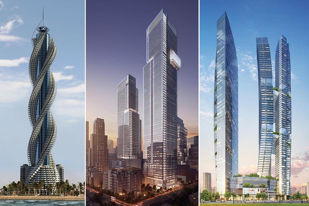 Ambicingų dangoraižių projektų netrūksta (SA.lt fotomontažas)