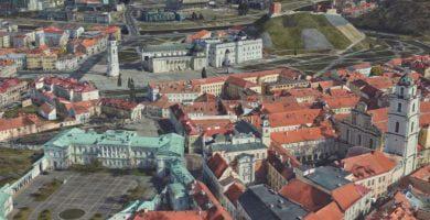 3D Vilnius map