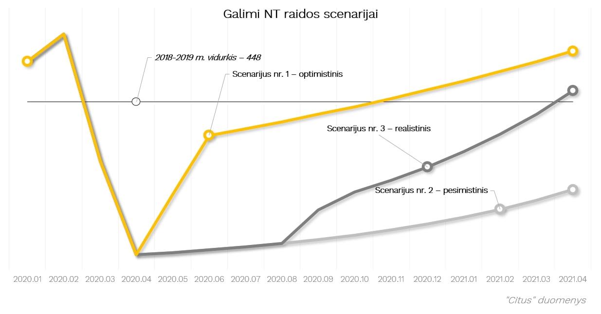 Grafikas1NT rinkos raidos scenarijaiCitus