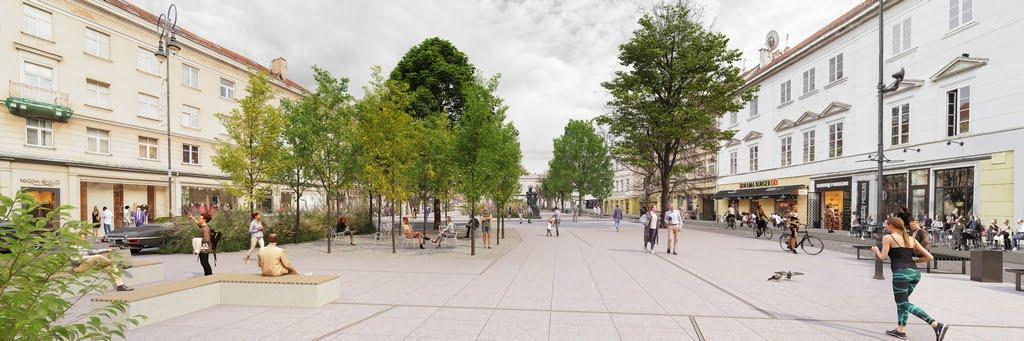 """I vietos nugalėtojo – projekto """"Strassen Platz"""" vizualizacija."""