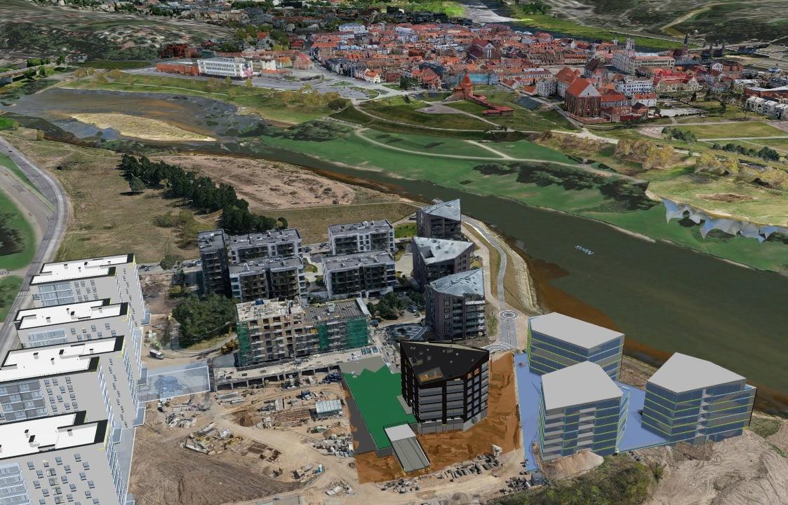 Kauno miesto virtualioje kopijoje atvaizduoti būsimi statiniai. – ar pa...