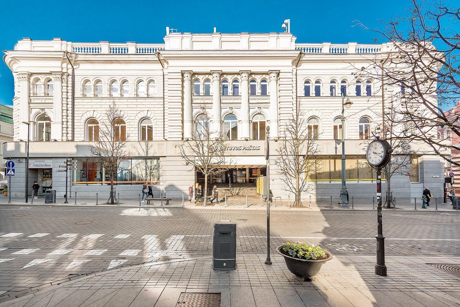 Buvęs Vilniaus centrinio pašto pastatas.
