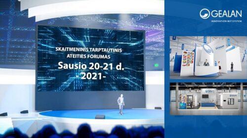 GEALAN Skaitmeninis Ateities Forumas pirmą kartą rengiamas virtualiai 2021 metų sausio 20-21 dienomis.