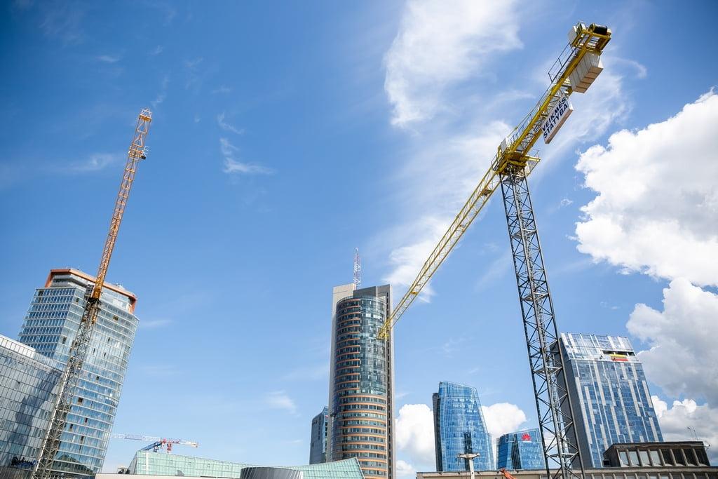 dangoraižiai vilnius statyba kranai