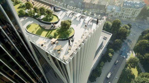 """Biurų kompleksas """"Flow"""" (Projekto architektai – """"Architektūros kūrybinė grupė"""" su vedančiuoju architektu Remigijumi Bimba)."""