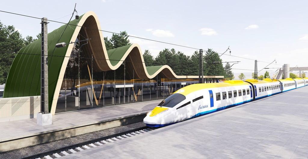 Rail Baltica Train Concept V2 5 9 ext station dark green 2400