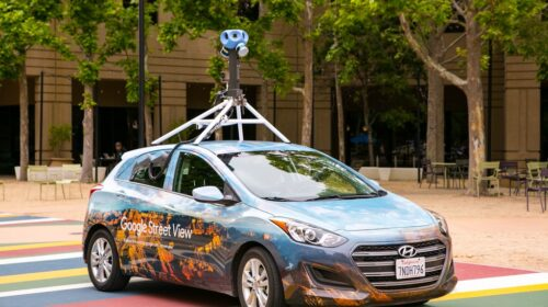 """Google Street View"" automobilis."