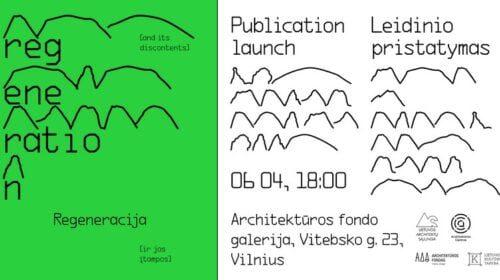 Leidinio pristatymo plakatas