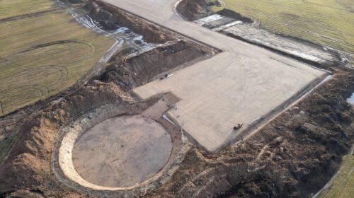 Ruošiami Vėjo jėgainių parko pamatai. MERKO nuotr.