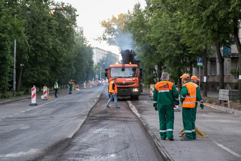 grinda vilnius naugarduko gatvė kelio darbai