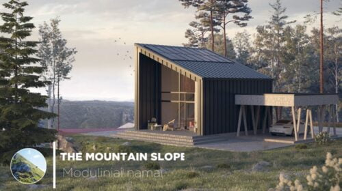 """The Mountain Slope"" modulinis namas."