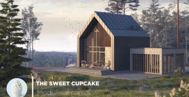 "Surenkami moduliniai namai – ""The Sweet Cupcake"""